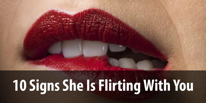 Flirting signs girls